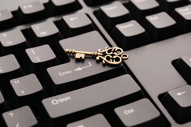 キーボード上の鍵