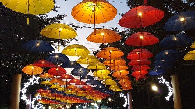 傘のランプ